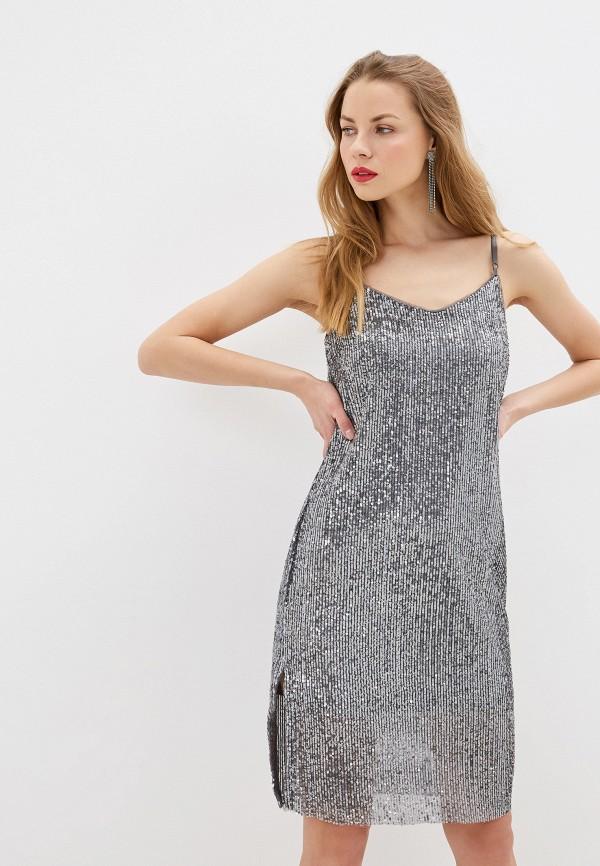 женское платье zarina, серебряное