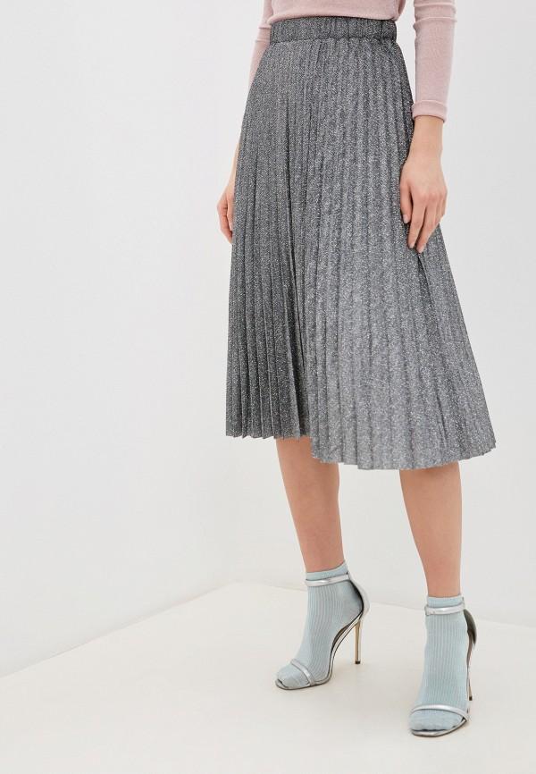 женская юбка zarina, серебряная