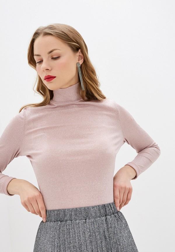 женская водолазка zarina, розовая