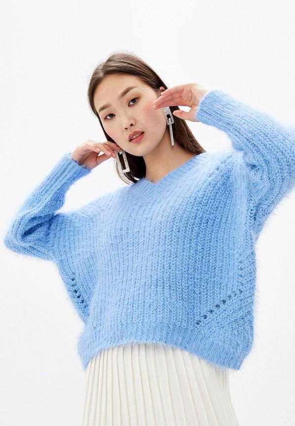женский пуловер zarina, голубой