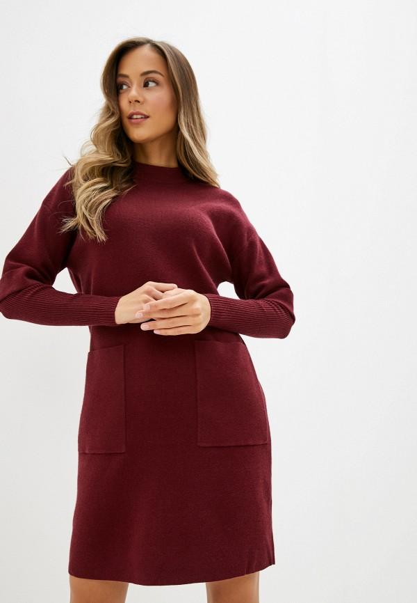 женское платье zarina, бордовое