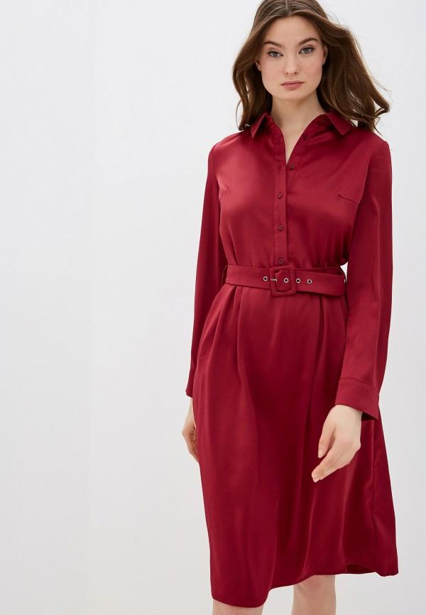 женское повседневные платье zarina, бордовое