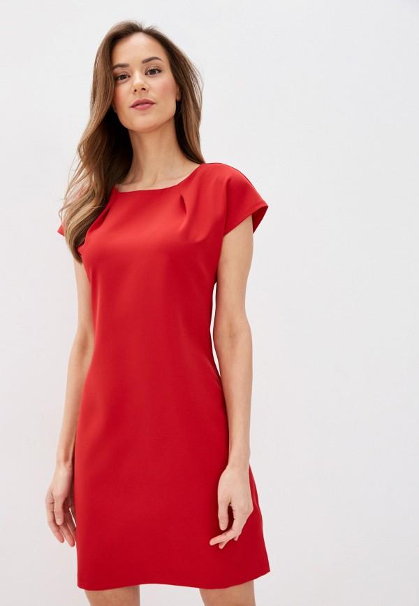 женское повседневные платье zarina, красное