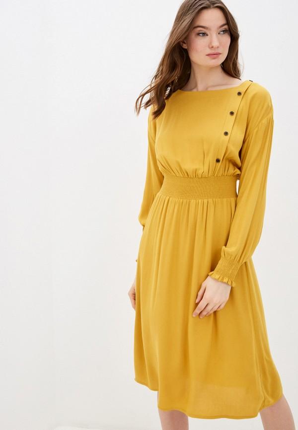 женское повседневные платье zarina, желтое