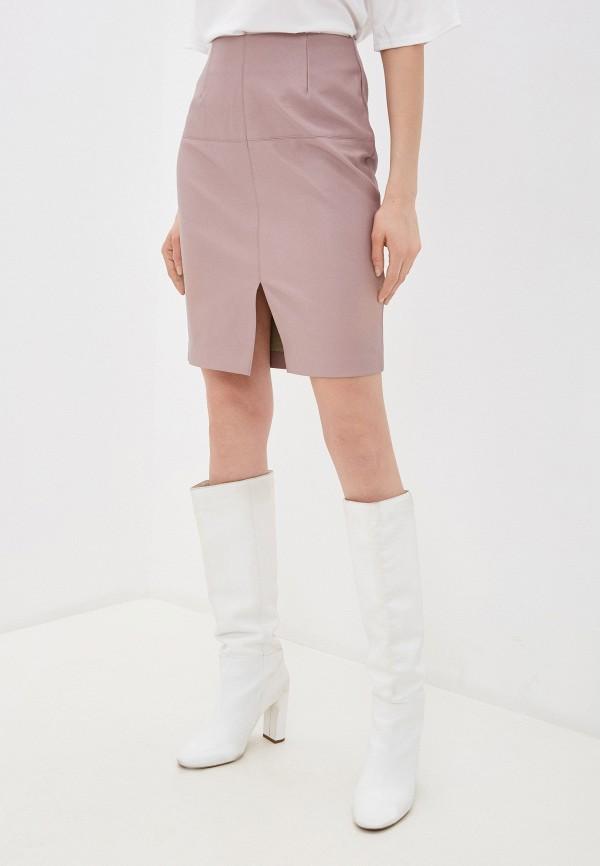 женская юбка zarina, розовая