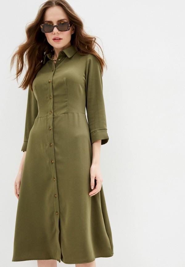 женское платье zarina, хаки