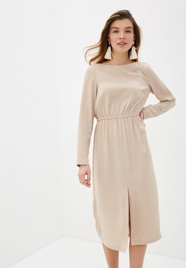 женское повседневные платье zarina, бежевое