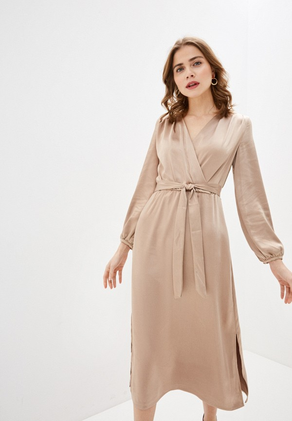 женское платье zarina, бежевое