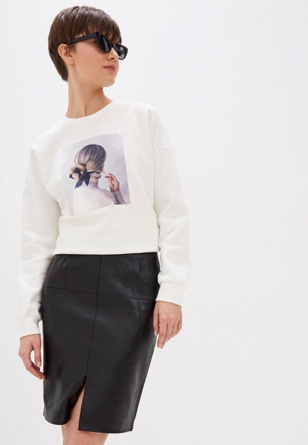 женский свитшот zarina, белый