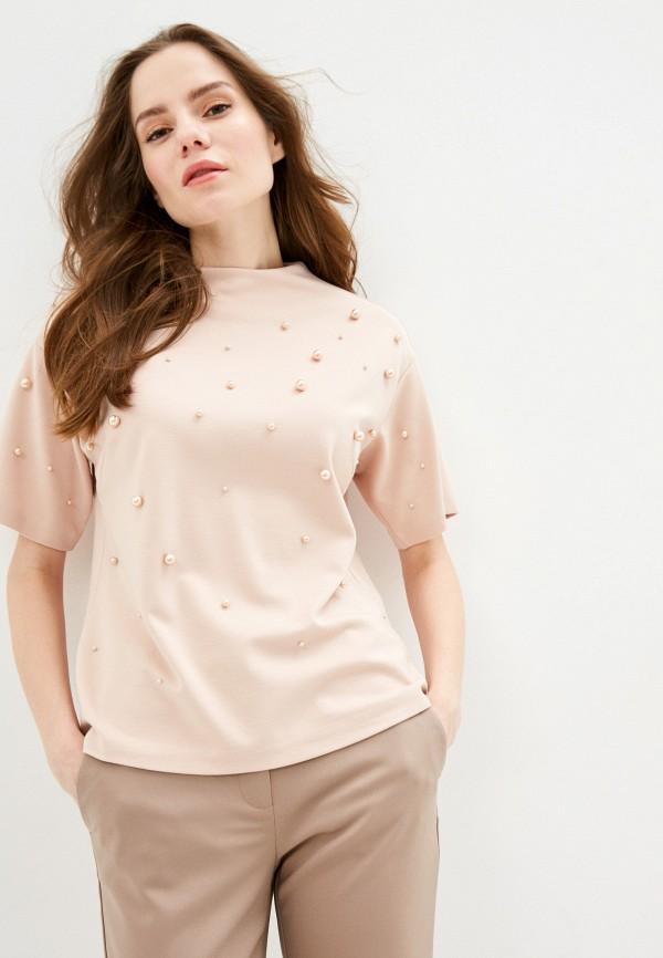 женская блузка zarina, розовая