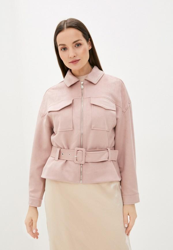 женская куртка zarina, розовая