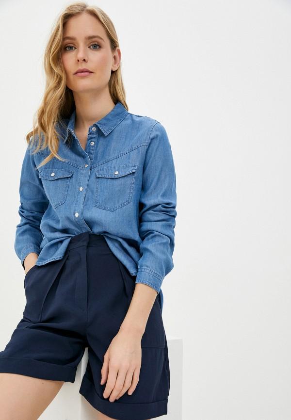женская джинсовые рубашка zarina, синяя