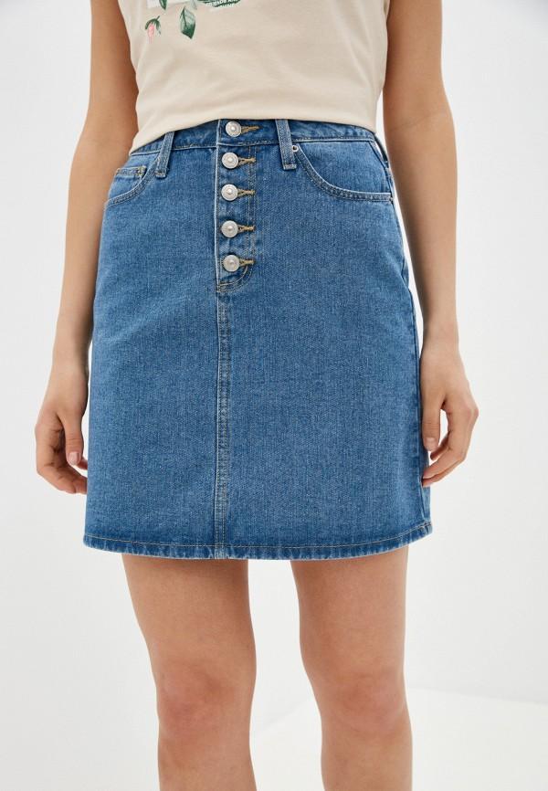 женская джинсовые юбка zarina, голубая