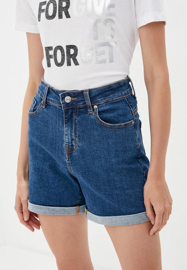 женские джинсовые шорты zarina, синие