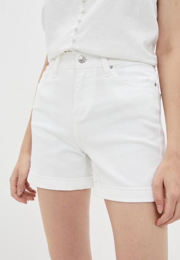 женские джинсовые шорты zarina, белые