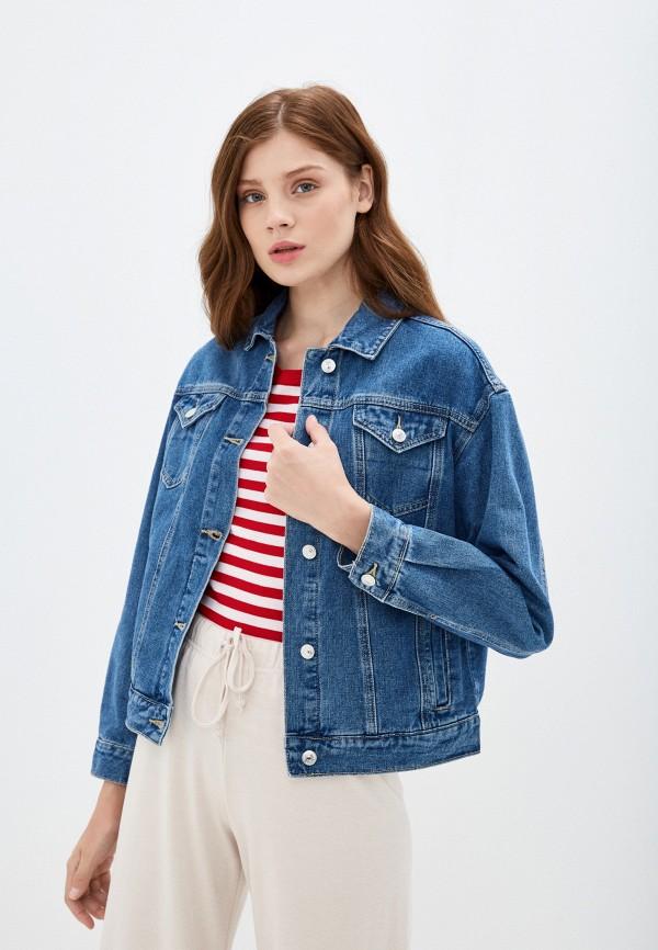 женская джинсовые куртка zarina, синяя
