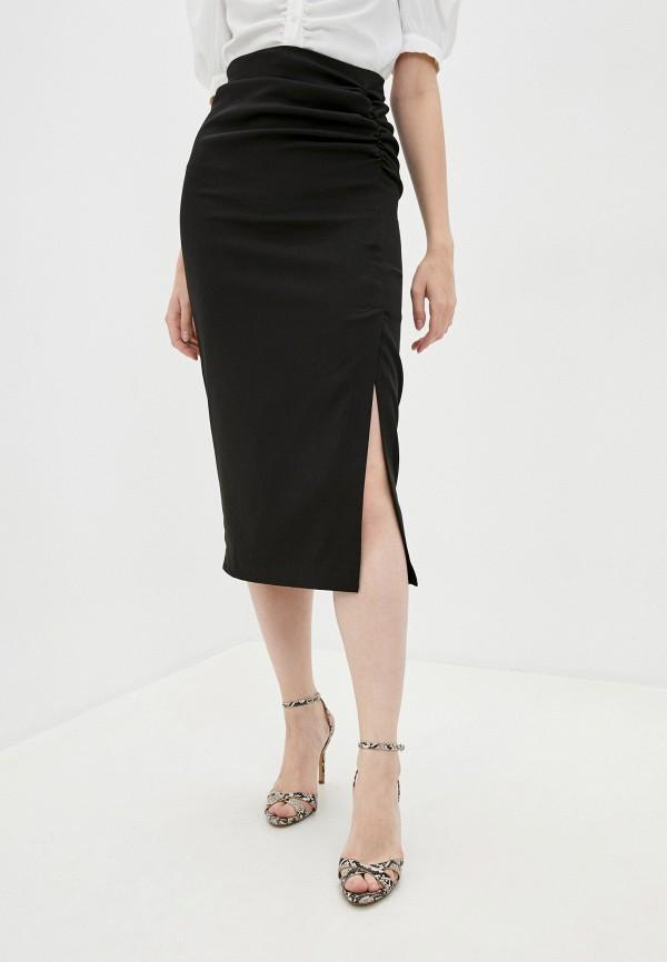 женская зауженные юбка zarina, черная