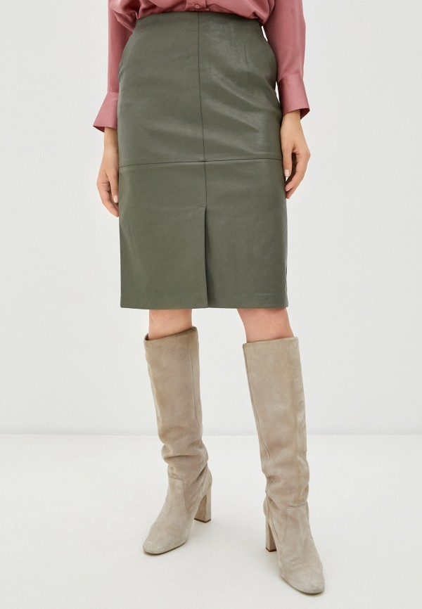 женская юбка zarina, хаки