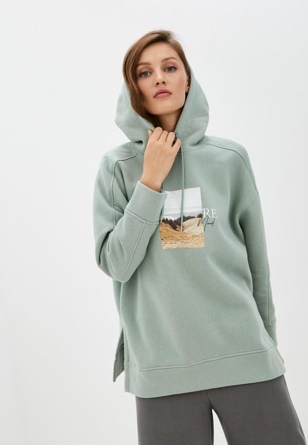 женские худи zarina, зеленые