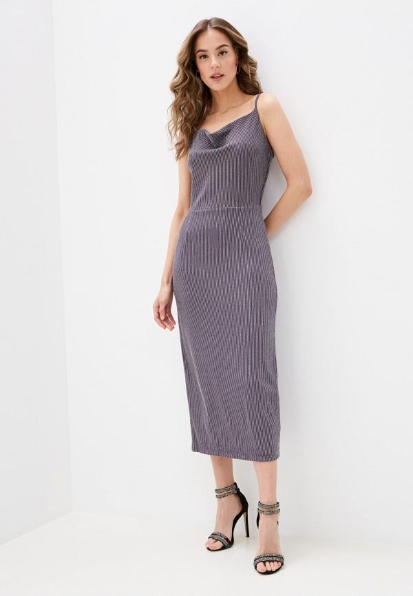 женское вечерние платье zarina, серое