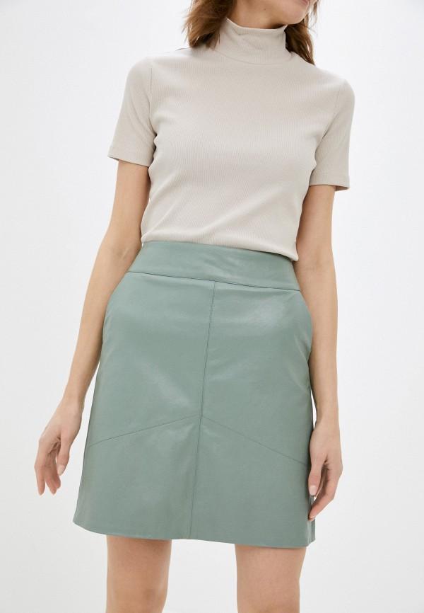 женская юбка zarina, бирюзовая
