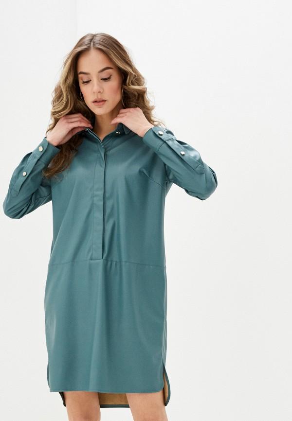 женское платье zarina, бирюзовое