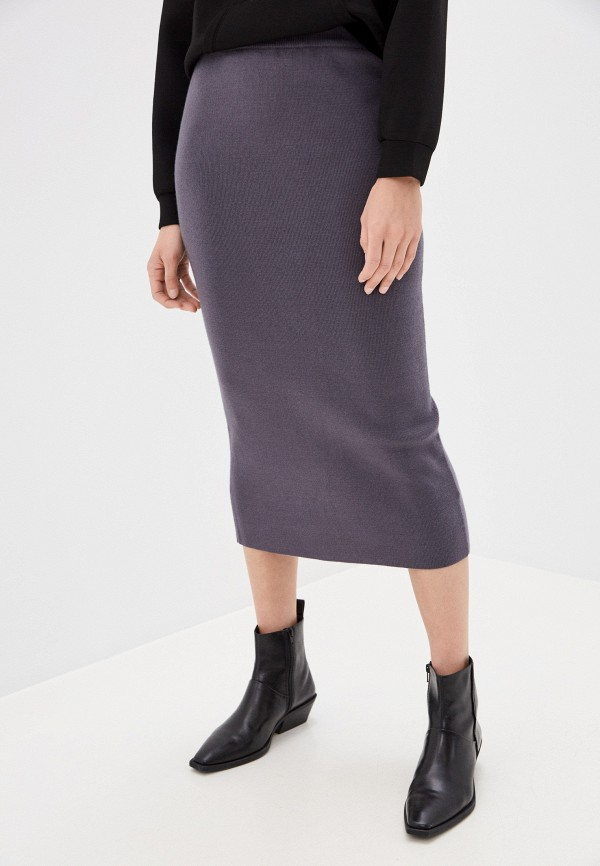 женская прямые юбка zarina, серая