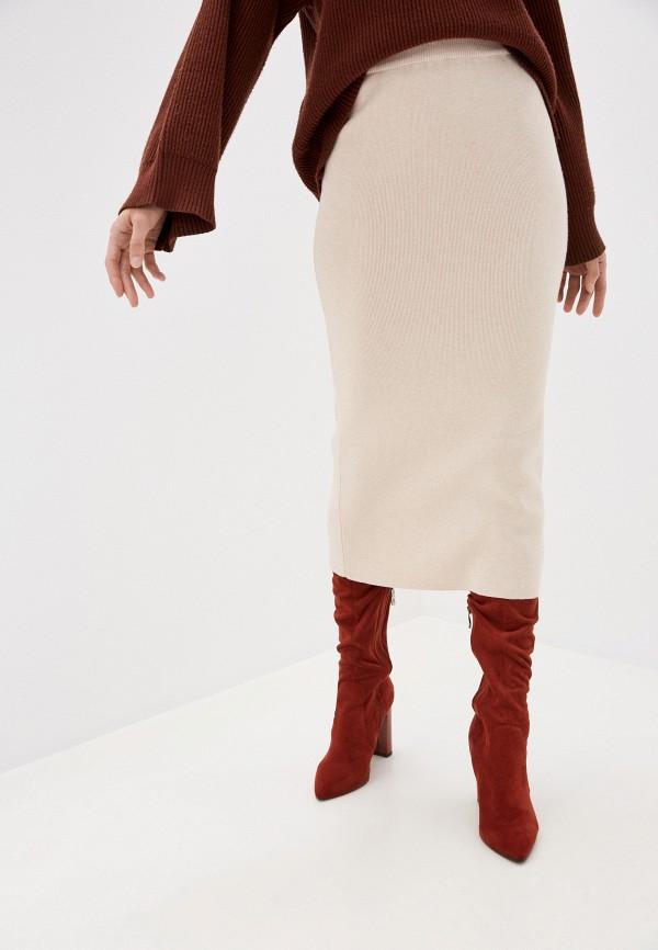 женская прямые юбка zarina, бежевая