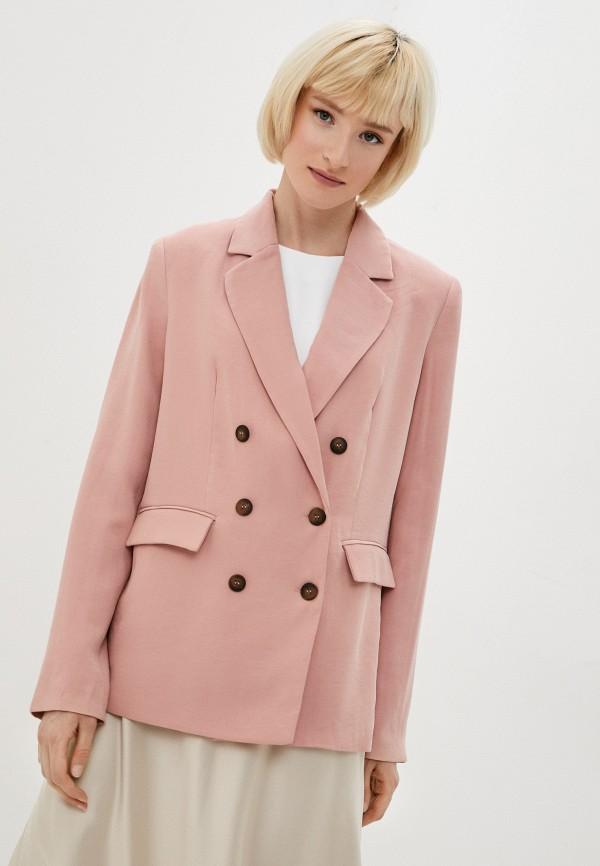 женский пиджак zarina, розовый