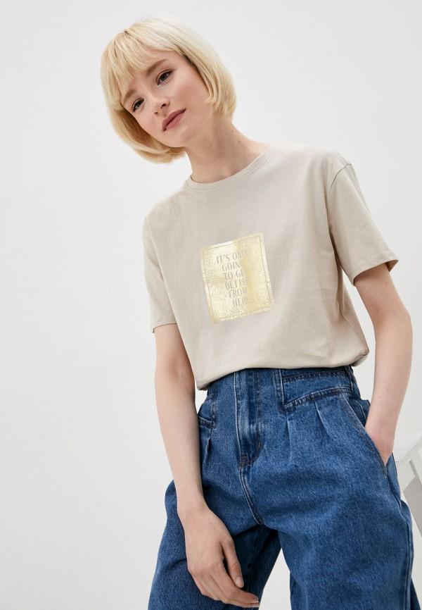 женская футболка zarina, бежевая