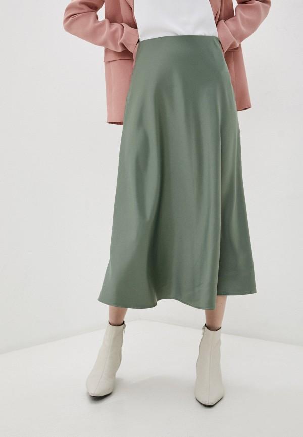 женская юбка zarina, зеленая