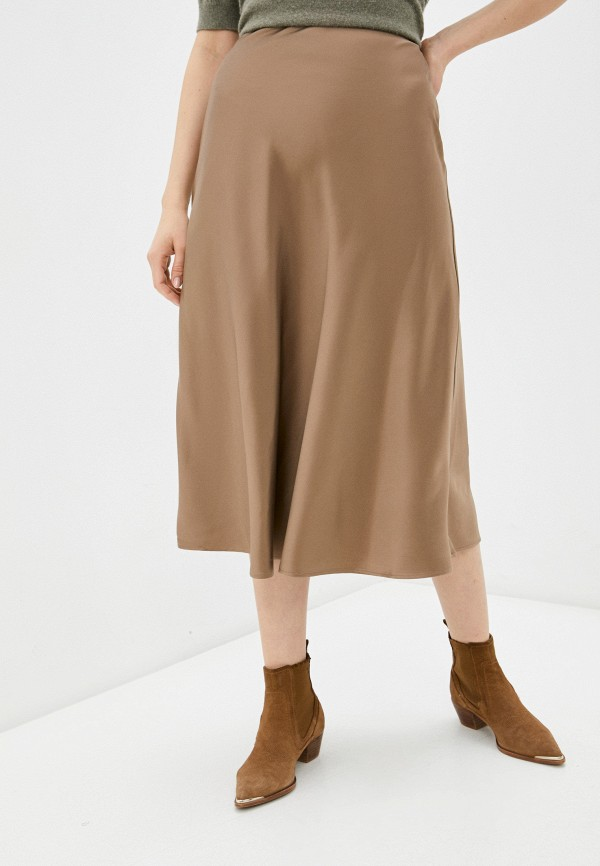 женская юбка zarina, коричневая
