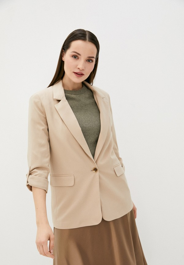 женский пиджак zarina, бежевый