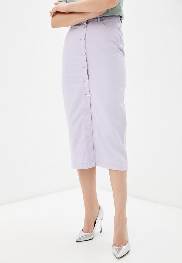 женская прямые юбка zarina, фиолетовая