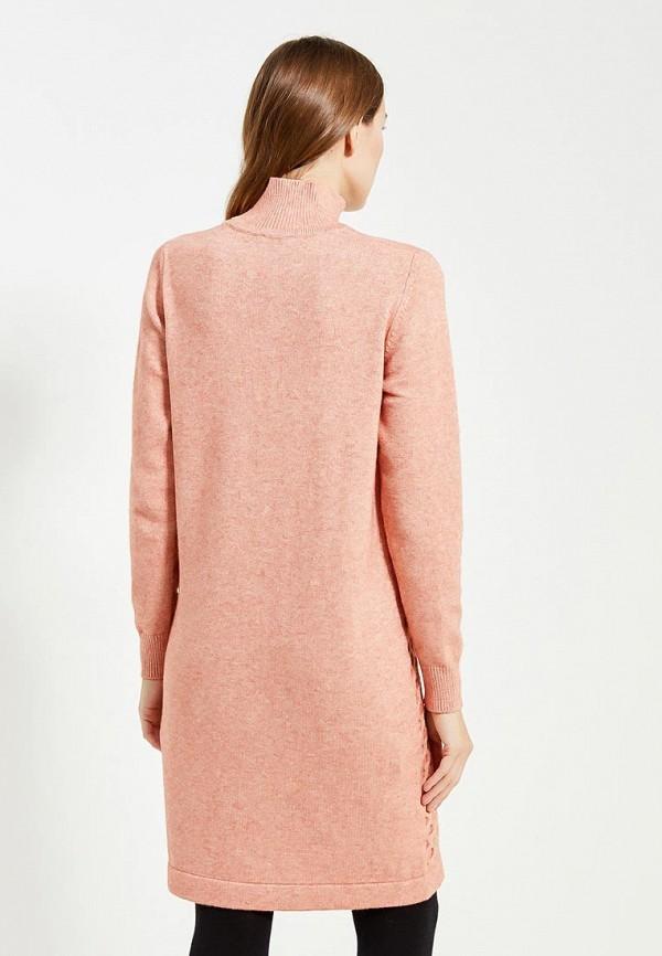 Фото 3 - женское вязаное платье Zarina кораллового цвета