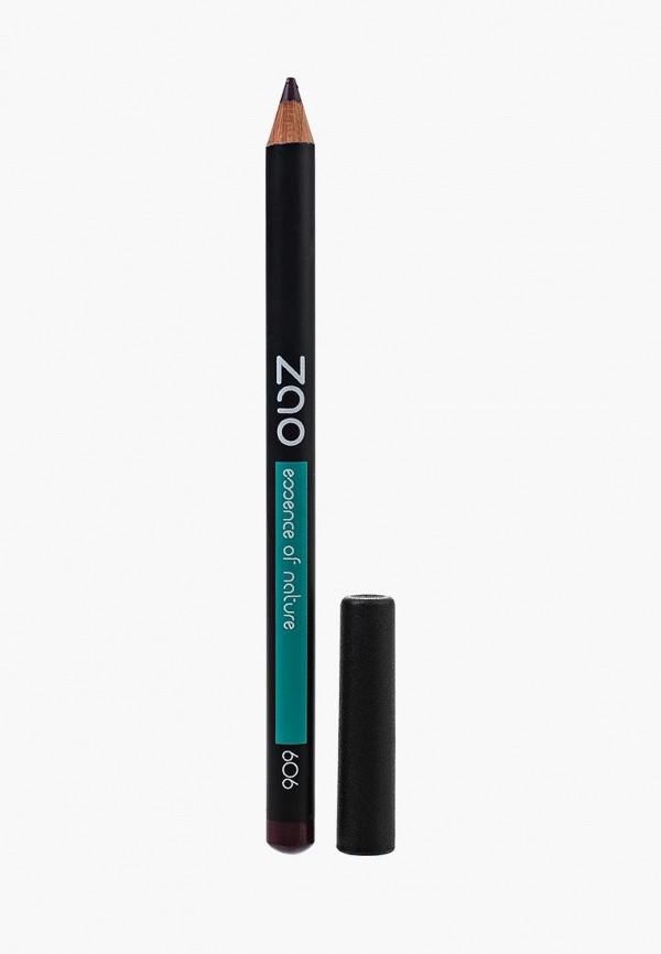 карандаш для глаз zao essence of nature, фиолетовый
