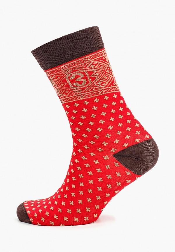 мужские носки запорожец heritage, красные