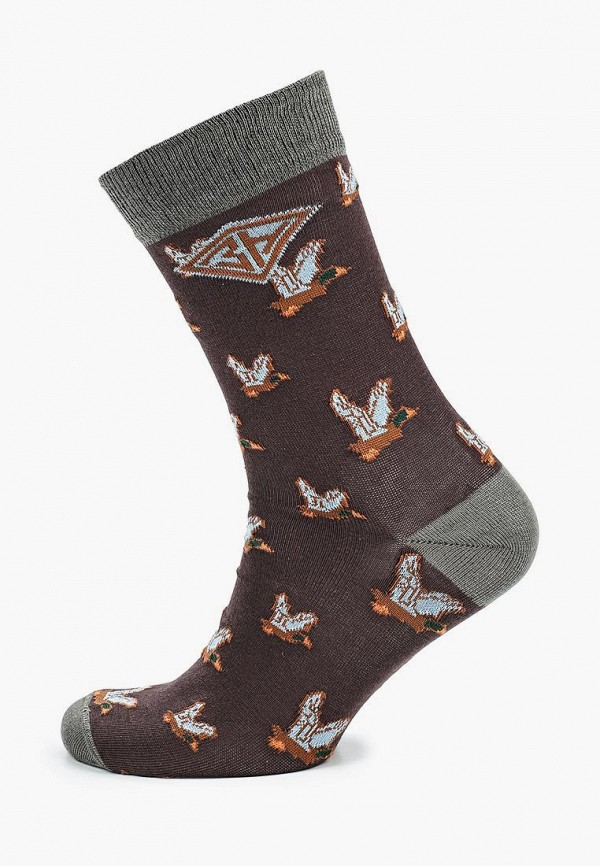 мужские носки запорожец heritage, коричневые