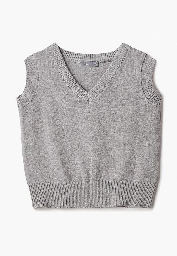 жилет zattani для девочки, серый