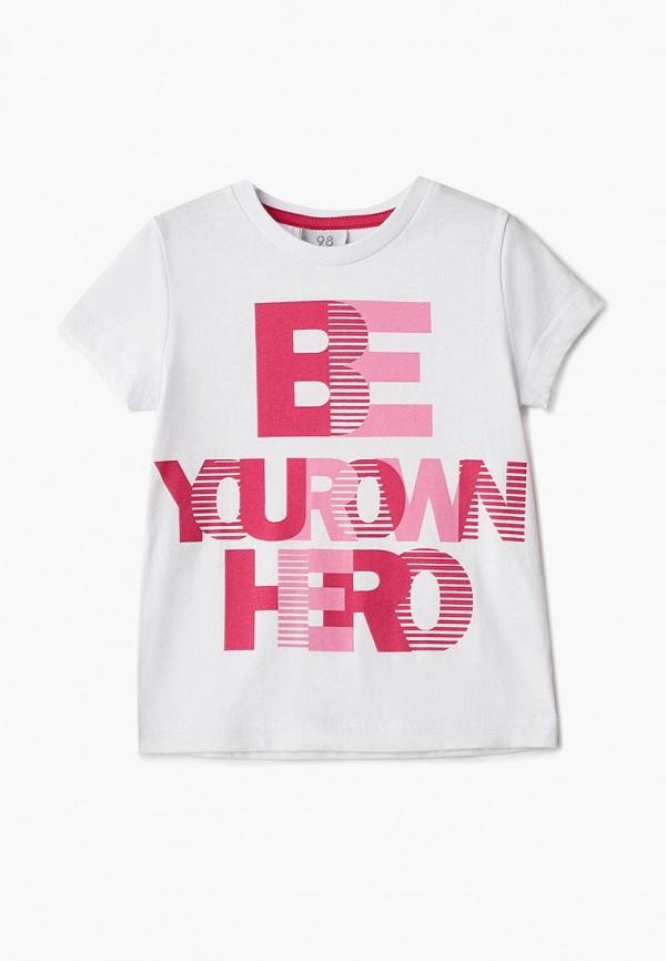 футболка с коротким рукавом zattani для девочки, белая