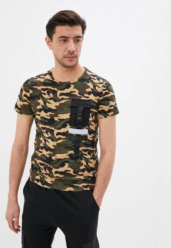 мужская футболка с коротким рукавом zayne, хаки