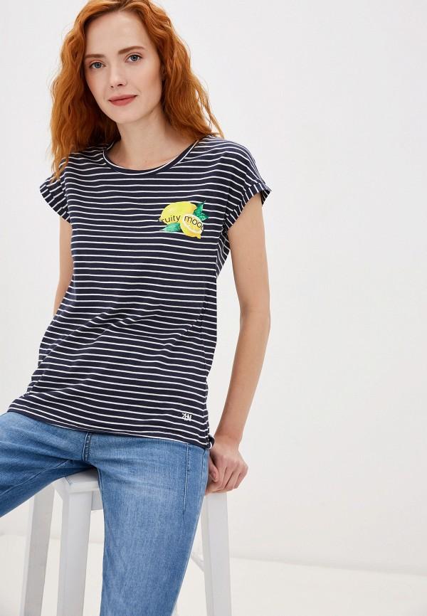женская футболка zabaione, синяя