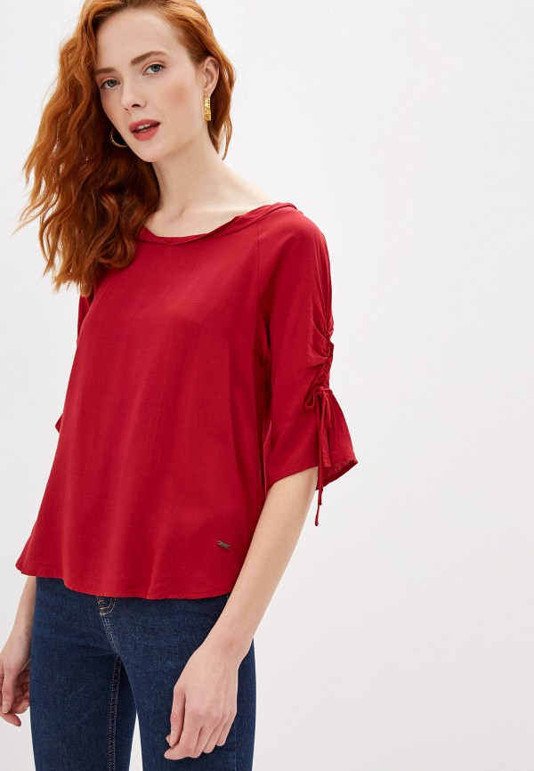 женская блузка zabaione, бордовая