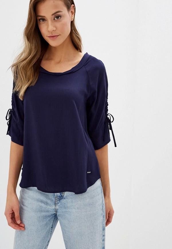 женская блузка zabaione, синяя