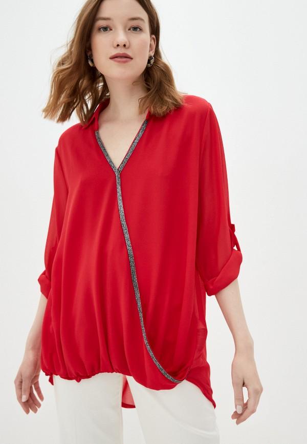 женская блузка zabaione, красная