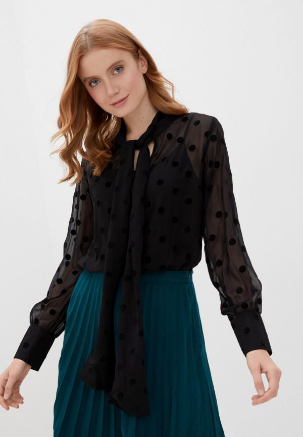 женская блузка zabaione, черная