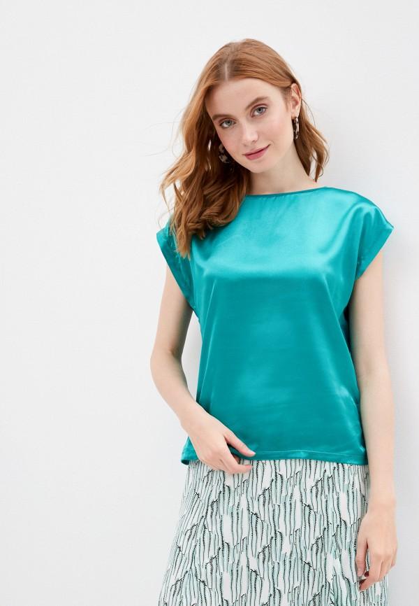 женская блузка zabaione, бирюзовая