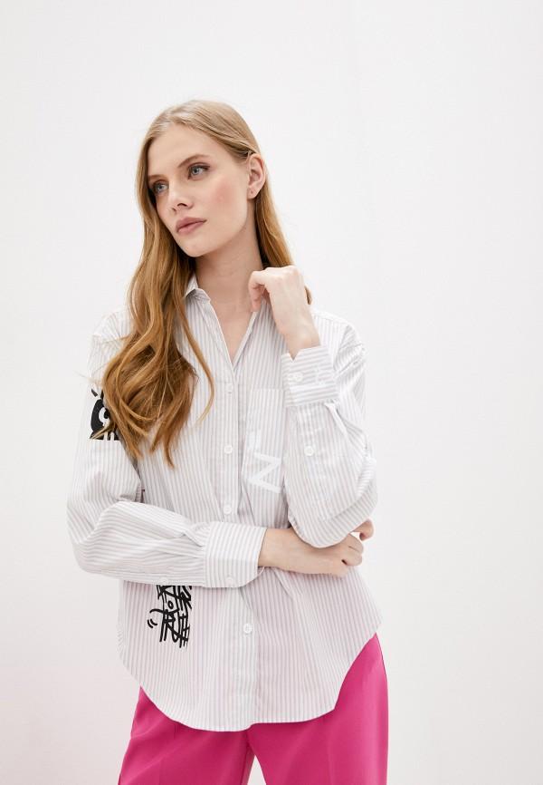 женская рубашка с длинным рукавом zadig & voltaire, серая