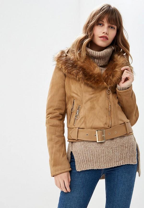 Куртка кожаная Z-Design, ZD002EWCNGR2, коричневый, Осень-зима 2018/2019  - купить со скидкой