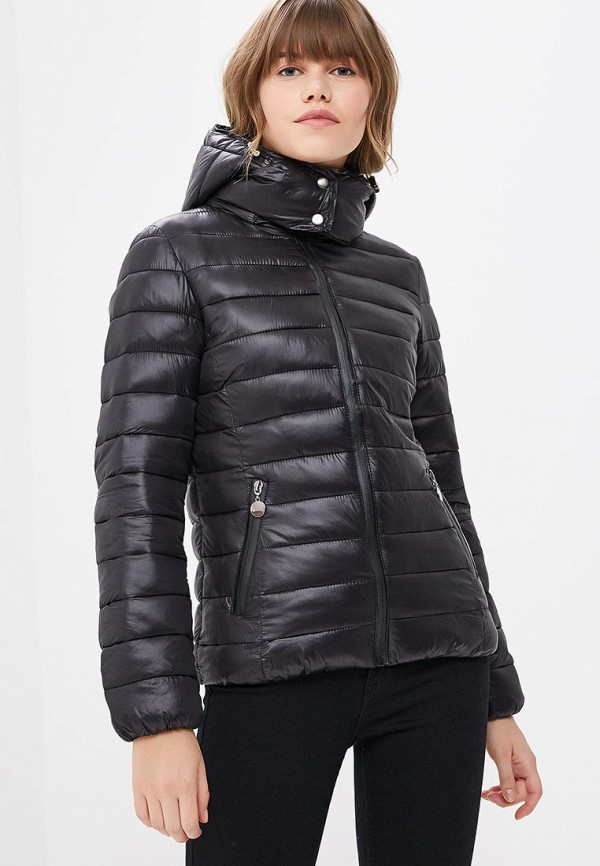 Куртка утепленная Z-Design Z-Design ZD002EWCRHW1 black sexy lace up design plain halter sleeveless crop top